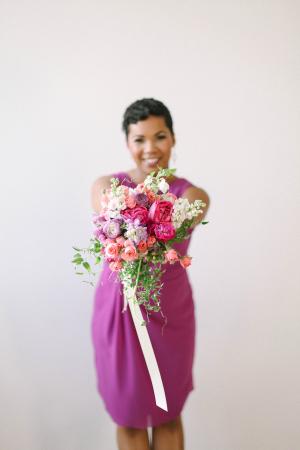 Bridesmaids Purple Bouquet
