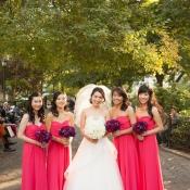 Bright Pink Bridesmaids Dresses