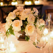 Centerpiece of White Roses