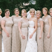 Champagne Lace Bridesmaids Dresses