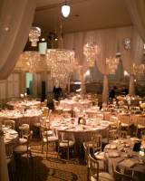 Chandeliers in Wedding Reception