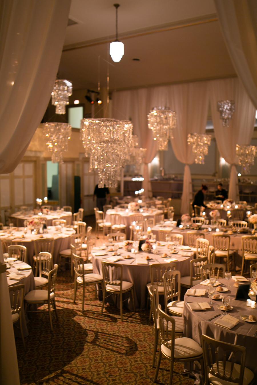 Chandeliers in Wedding Reception