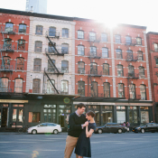 Chic City Engagement Photos