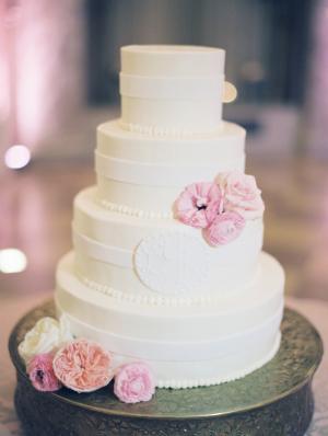 Classic Wedding Cake With Monogram