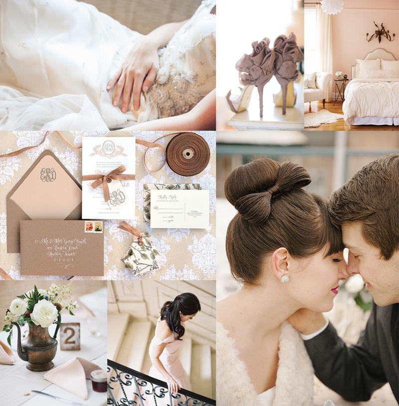 Coffee and Mauve Wedding Colors