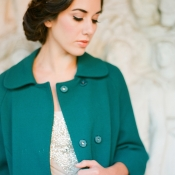 Colored Coat for Bride