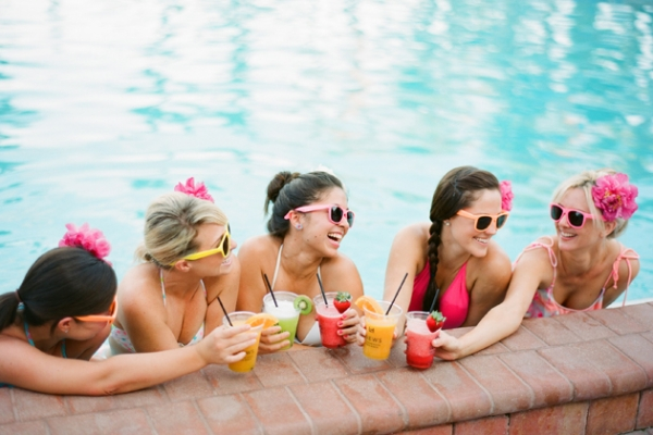Colorful Bachelorette Pool Party