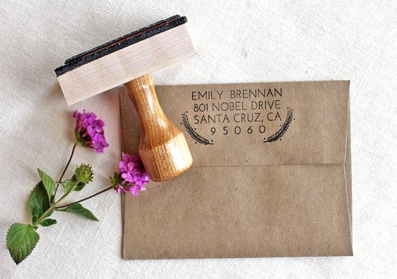 Custom Address Stamp by flourishdesignco