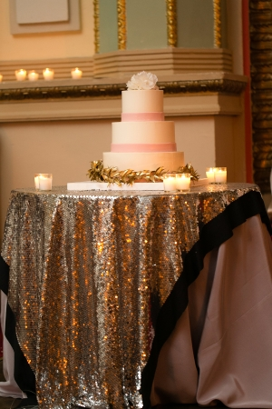 Custom Gold Sequin Table Linens