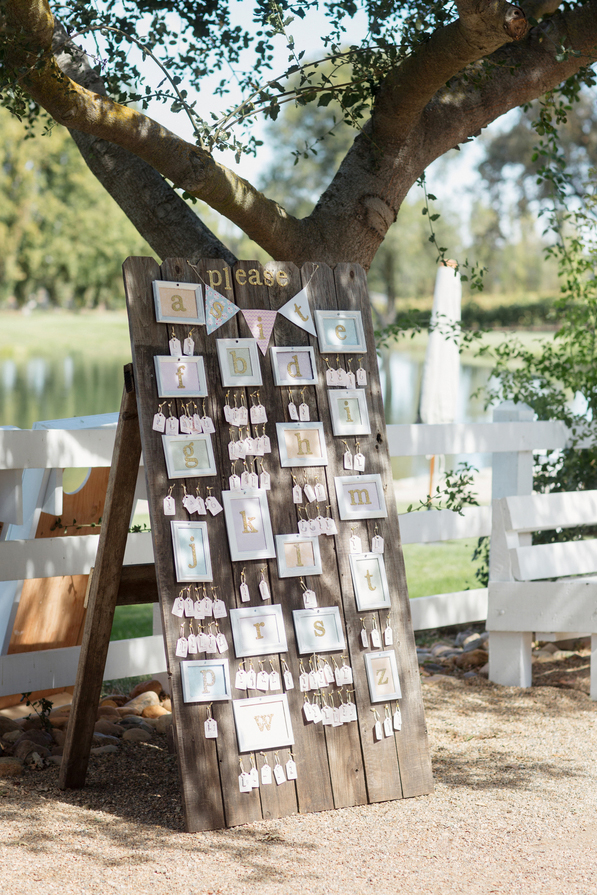 DIY Escort Card Board