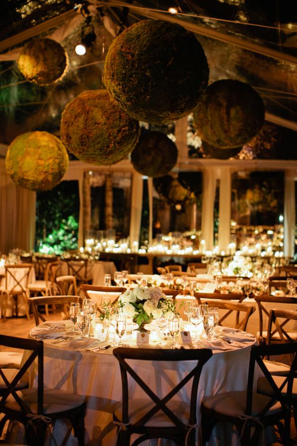 DIY Moss Ball Wedding Decor