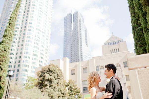 Downtown LA Romantic Wedding Portrait