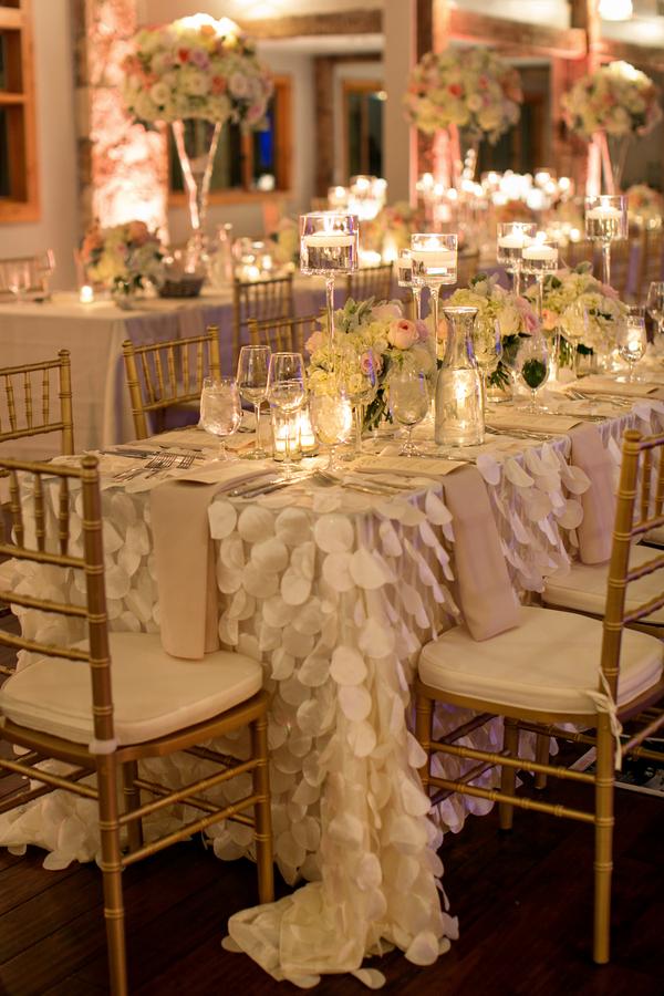Draped Petal Table Linens