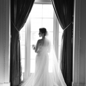Elegant Bride in Window