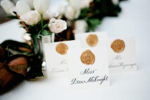 Elegant Calligraphy Escort Cards