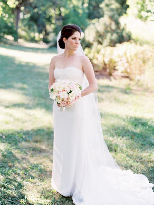 Elegant Column Style Bridal Gown