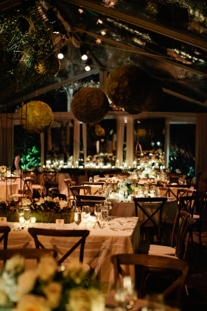Elegant Greenery and White Wedding Reception