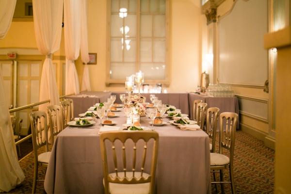 Elegant Mauve and Gold Reception