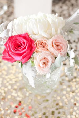 Flowers in Crystal Vase