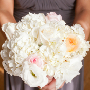 Fluffy White Bridesmaids Bouquet