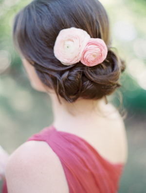 Fresh Flowers in Casual Updo