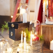 Glass Candlesticks Wedding Inspiration