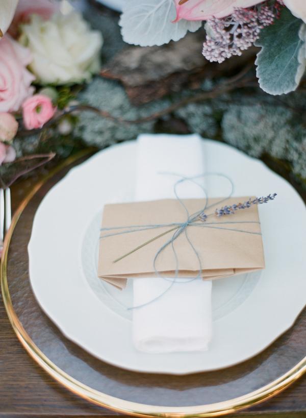 Glassine Bag Tied With Lavender