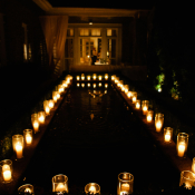 Glowing Candles Wedding Decor