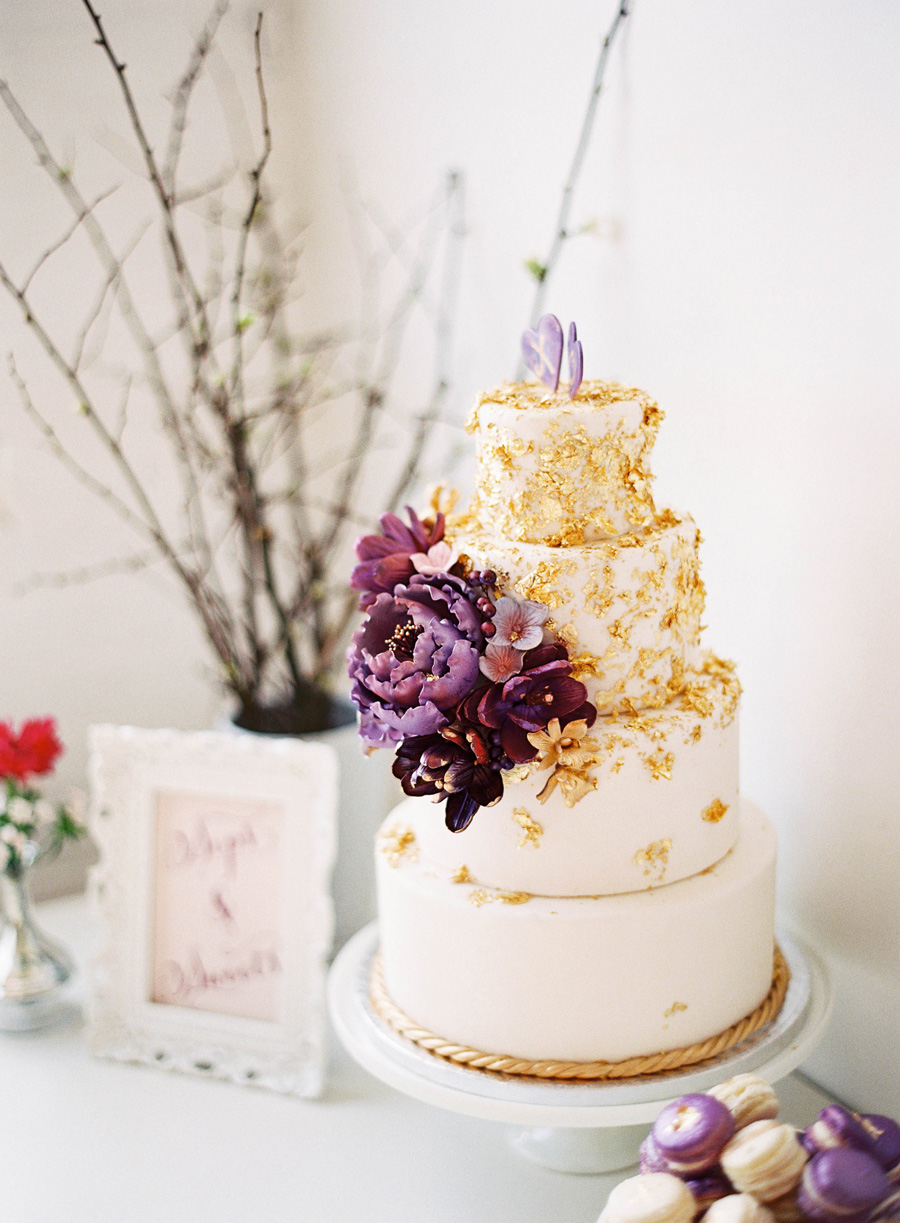 Gold Purple Wedding Cake - Elizabeth Anne Designs: The Wedding Blog