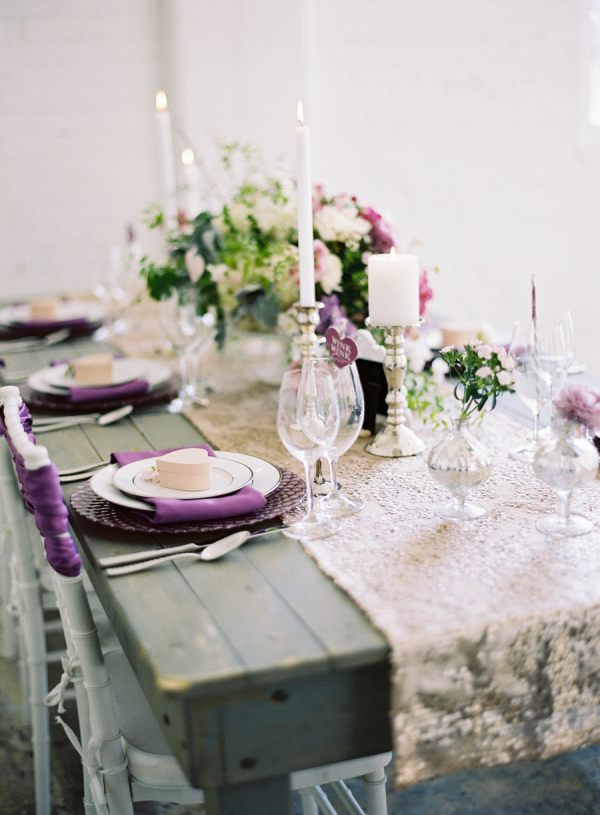 Gold Sparkle Table Runner