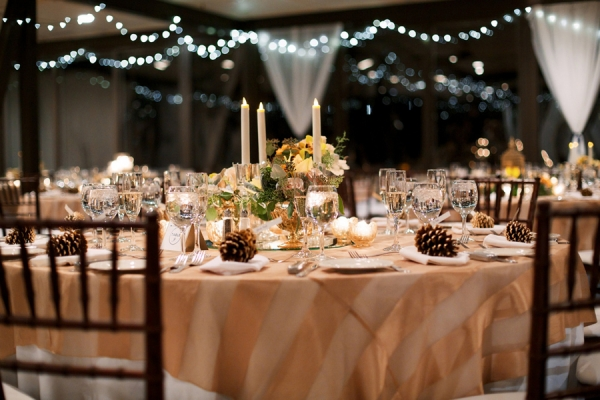 Gold Striped Linens