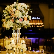 Gold and White Reception Table