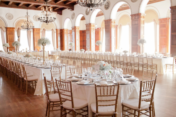 Gorgeous Gold and White Reception