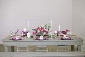 Gray and Purple Tabletop