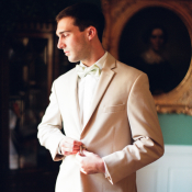 Groom in Khaki Tux