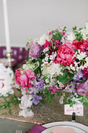 Hot Pink and Purple Centerpiece