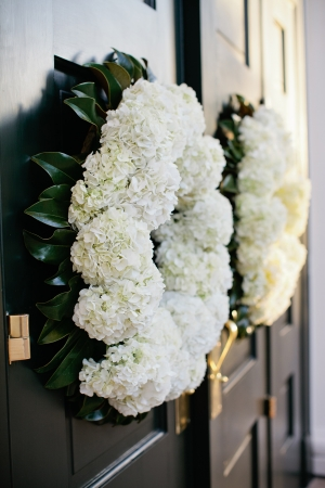 Hydrangea and Magnolia Wreaths