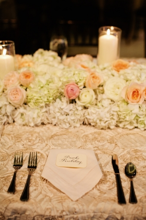 Hydrangea and Rose Floral Table Runner