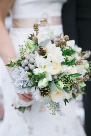 Ivory and Gray Bouquet