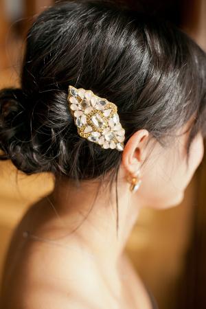 Jewel Pin Wedding Hair Ideas