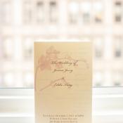 Lavender Orchid Wedding Program