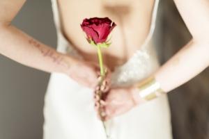 Long Stemmed Red Rose Wedding Inspiration