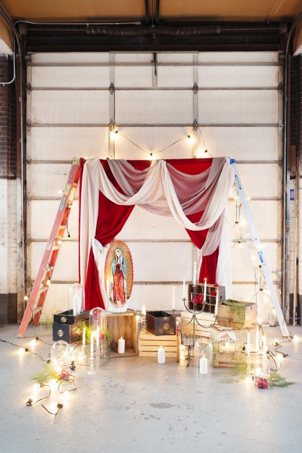 Modern Industrial Wedding Altar