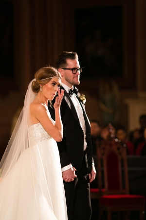 Modern Wedding Ceremony Holy Family Church Chicago
