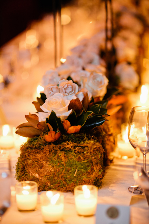 Moss and Rose Centerpiece