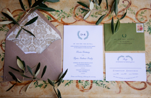 Olive Branch Motif Wedding Stationery