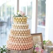 Ombre Cake Pop Wedding Cake