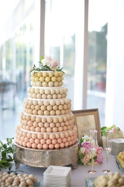 Ombre Cake Pop Wedding Cake
