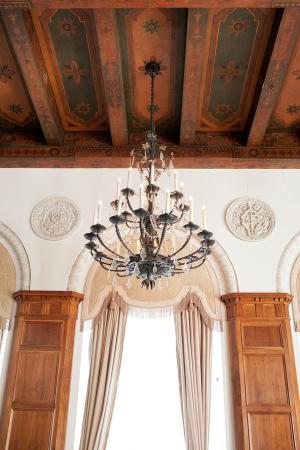 Painted Ceiling Beams Wedding Venue