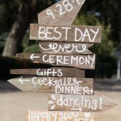 Painted Wood Wedding Sign